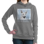White Shepherd Women's Hooded Sweatshirt