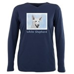 White Shepherd Plus Size Long Sleeve Tee