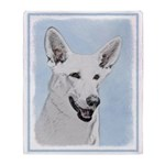 White Shepherd Throw Blanket