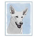 White Shepherd Small Poster
