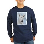 White Shepherd Long Sleeve Dark T-Shirt