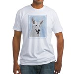 White Shepherd Fitted T-Shirt