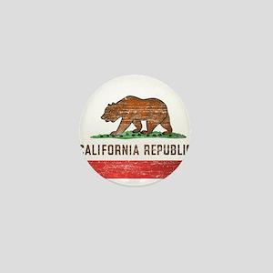 Vintage California Flag Mini Button