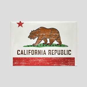 Vintage California Flag Rectangle Magnet
