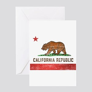 Vintage California Flag Greeting Card