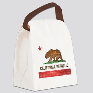 Vintage California Flag Canvas Lunch Bag