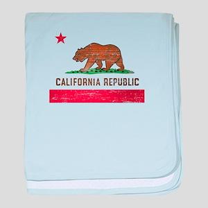 Vintage California Flag baby blanket