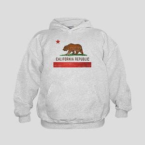 Vintage California Flag Kids Hoodie