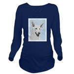 White Shepherd Long Sleeve Maternity T-Shirt