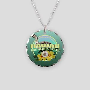 Hawaii State Bird & Flower Necklace