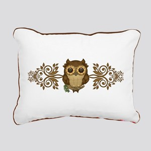 Cute Brown Owl Rectangular Canvas Pillow