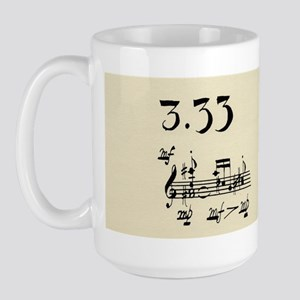 """John Cage """"Water Music No. 2"""" Large Mug"""