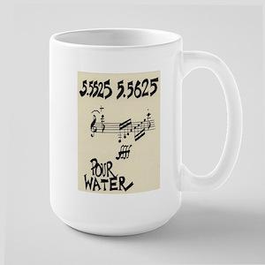 """John Cage """"Water Music No. 5"""" Large Mug"""