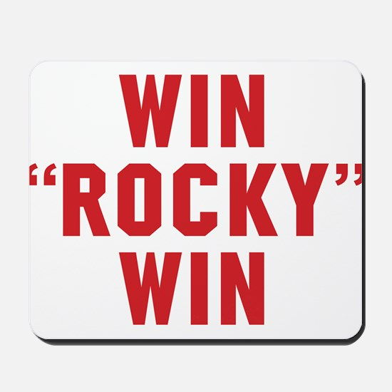 Win Rocky Win Mousepad