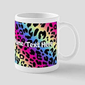 Custom Rainbow Leopard Mug