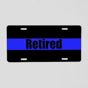 Retired Police Aluminum License Plate