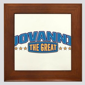 The Great Jovanni Framed Tile
