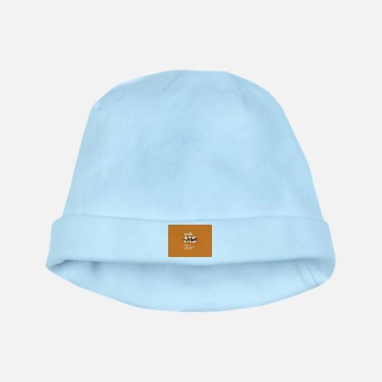 Orange- Walk MS baby hat