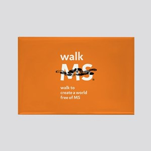 Orange- Walk MS Rectangle Magnet