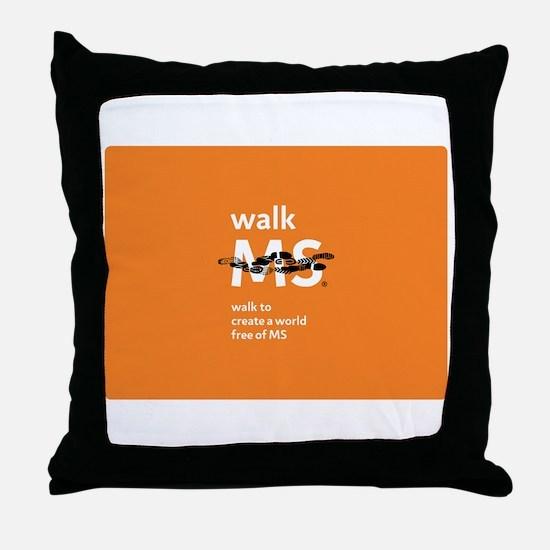 Orange- Walk MS Throw Pillow