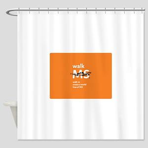 Orange- Walk MS Shower Curtain