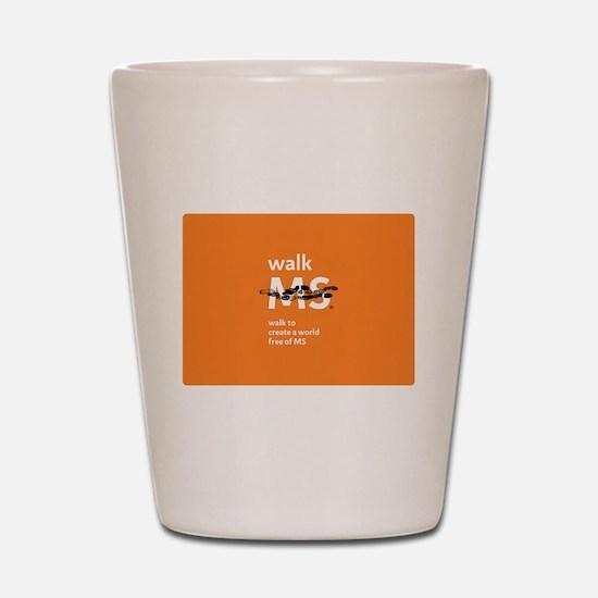 Orange- Walk MS Shot Glass