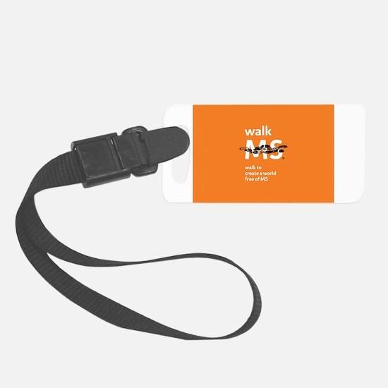 Orange- Walk MS Luggage Tag