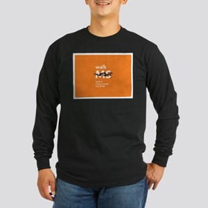 Orange- Walk MS Long Sleeve T-Shirt