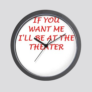 theater Wall Clock