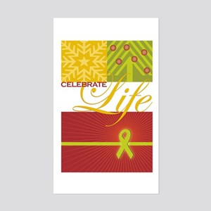Celebrate Life Holiday Collection Sticker (Rectang