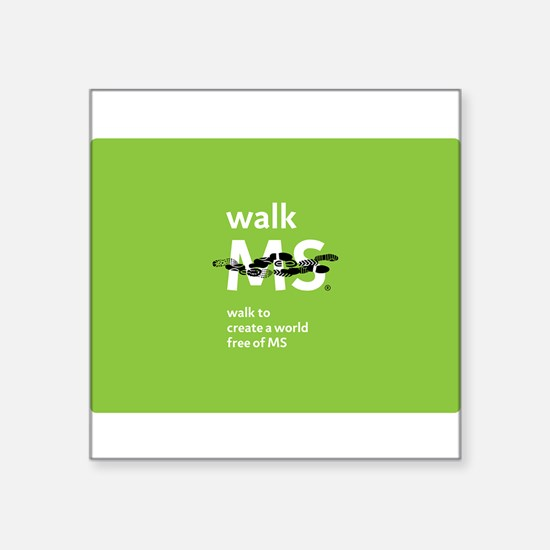 Green- Walk MS logo Sticker