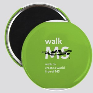 Green- Walk MS logo Magnet