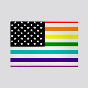 UNITED STATES OF EQUALITY RAINBOW FLAG Rectangle M