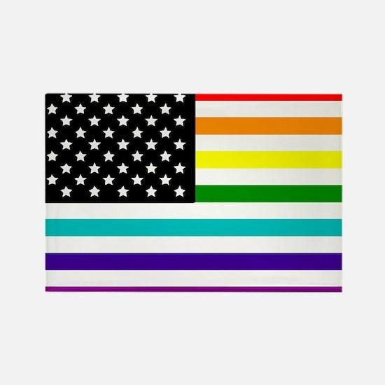 UNITED STATES OF EQUALITY RAINBOW FLAG Rectangle M