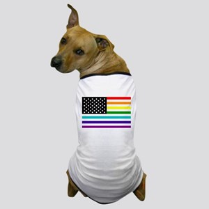 UNITED STATES OF EQUALITY RAINBOW FLAG Dog T-Shirt