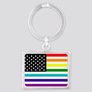 UNITED STATES OF EQUALITY RAINBOW FLAG Keychains