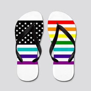 UNITED STATES OF EQUALITY RAINBOW FLAG Flip Flops