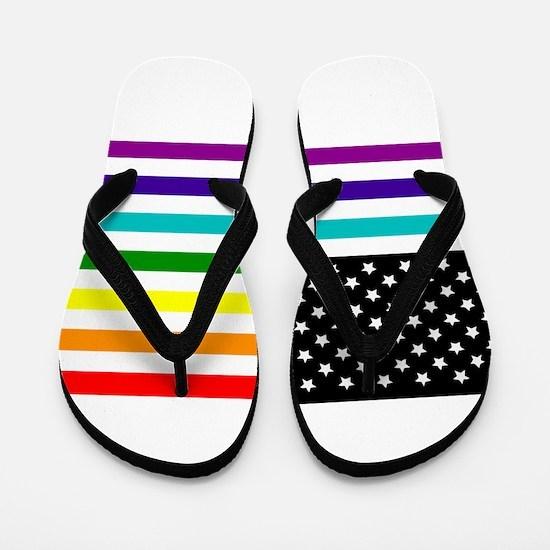 UNITED STATES OF EQUALITY RAINBOW FLAG Flip Flops