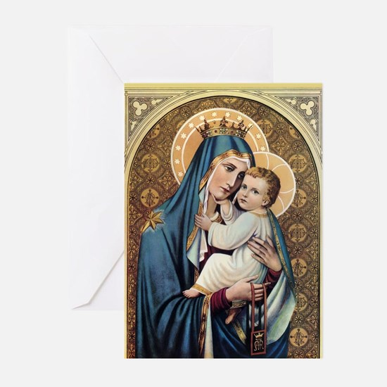 Unique Blessed virgin mary Greeting Cards (Pk of 20)