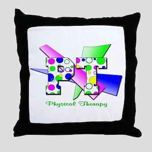 Circles and Dots Throw Pillow
