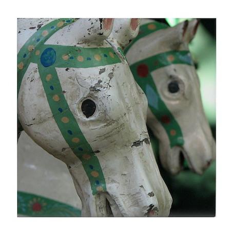 Carrousel Horses Tile Coaster