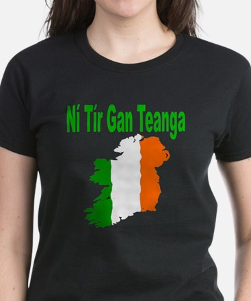 There is no nation without a  Women's Dark T-Shirt