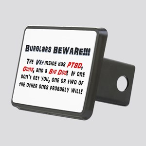 Burglars Beware!!! Rectangular Hitch Cover