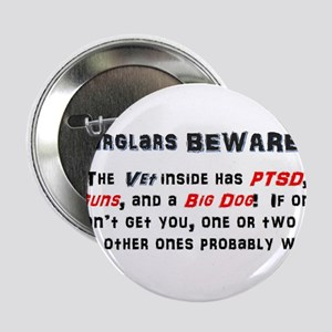 "Burglars Beware!!! 2.25"" Button"