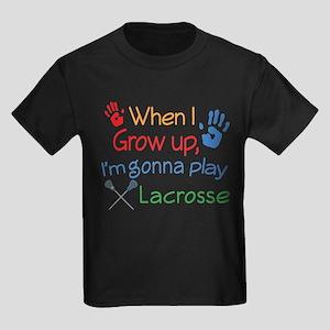 Future Lacrosse Player Kids Dark T-Shirt
