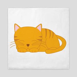 Orange Tabby Cat Queen Duvet