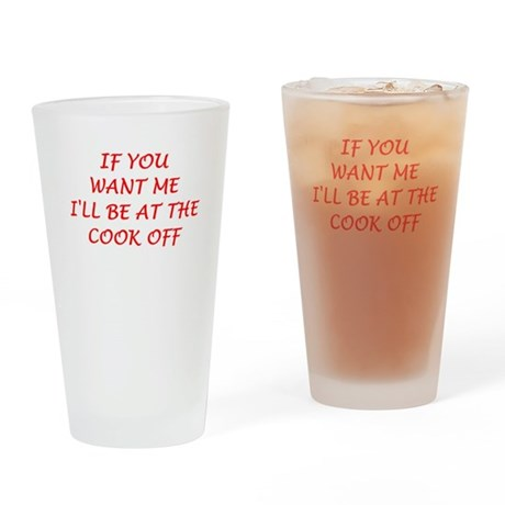 cook off Drinking Glass