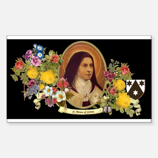 St. Therese of Lisieux-black background Decal
