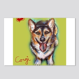 Welsh Corgi Love Heart Postcards (Package of 8)