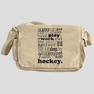 Hockey Live Go Be Messenger Bag